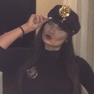 Cop hat, badge and handcuffs for Halloween